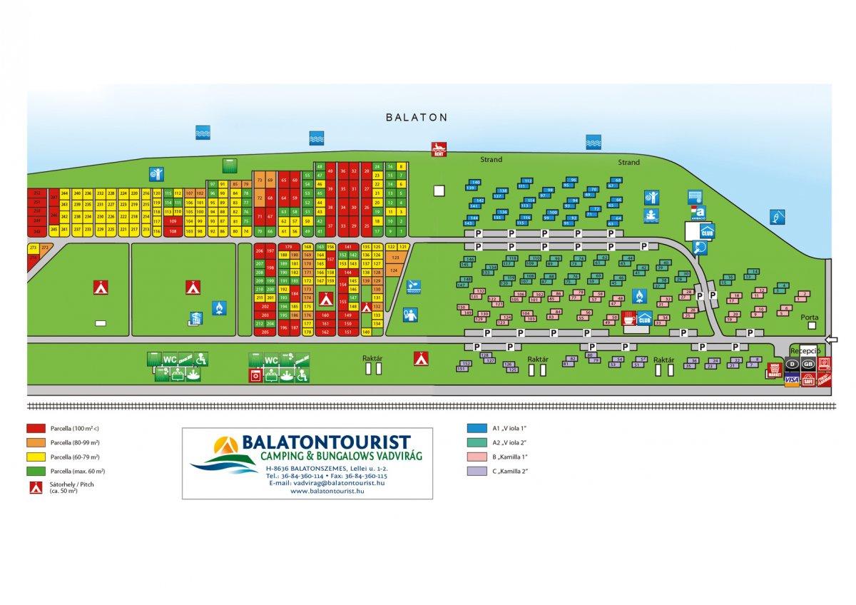 balaton térkép balatonszemes Balatontourist: Campsite maps balaton térkép balatonszemes