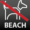 Dogs are not allowed on the beach