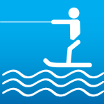 Water-skiing course 100m